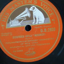 """78 tr/min 12"""" TOSCANINI Wagner sygfried Idylle 1 & 2, DB 2920"""