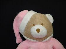 TENDER KISSES PINK BABY GIRL EASTER BUNNY PAJAMA SLIPPER PLUSH TEDDY BEAR RATTLE
