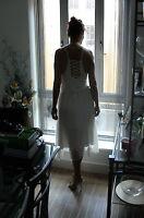 ***SALE*** Beautiful New Elegant Romantic Cream Dress with Corset Detail to Back