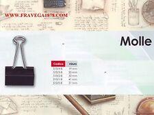 MOLLE FOLDBACK QUATTRO SCATOLE DA 12 MOLLE 510/4 19 MM METALLO- 48 MOLLE