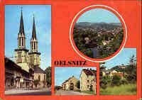 Oelsnitz Vogtland DDR Mehrbild-AK ua. Straße des Friedens, Schloss Voigtsberg