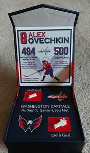 AUTHENTIC OVECHKIN 484 & 500TH GOAL GAME USED NET PIECES WASHINGTON CAPITALS NEW