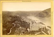 J.H. Schönscheidt, Cöln a. Rhein, Panorama von Oberwesel  Vintage albumen print.