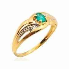 Bague or jaune 18k émeraude femme ring emerald gold woman