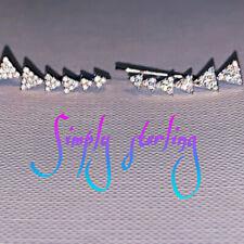 .925 Sterling Silver Arrow Ear Climber Earrings