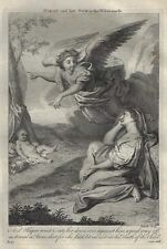 Stackhouse's Bible - HAGAR & HER SON IN THE WILDERNESS - Copper Engraving - 1752