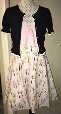 KITTEN D'AMOUR Secret Garden Dress Size 16 + Bonus Cardigan Limited 109/150