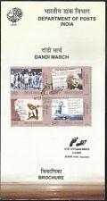 Mahatma Gandhi India Dandi March 2005 stamped folder Indien setenant se-tenant