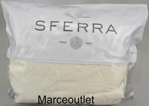 Sferra Fiona 3200 Long Staple Cotton Sateen QUEEN Fitted Sheet Ivory