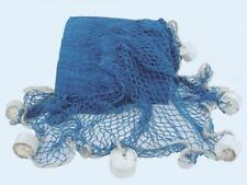 G4798: Fischernetz mit Schwimmern, Deko Netz Blau, Baumwolle 250 x 250 cm