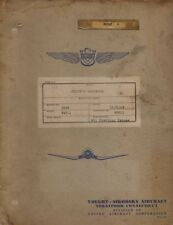 1942 VOUGHT SIKORSKY F4U-1,F3A-1,FG-1 CORSAIR PILOTS FLIGHT MANUAL HANDBOOK-CD