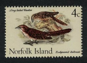 Norfolk Long-tailed Koels Cockoo Birds 4c 1970 MNH SG#106