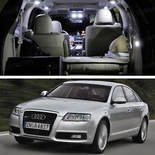 Error Free LED White Light Interior Bulbs Package Deal for Audi A6 2005-2011 C6