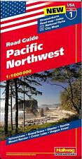 Road Guide (Map) to The Pacific Northwest,  by Hallwag - 2016 date