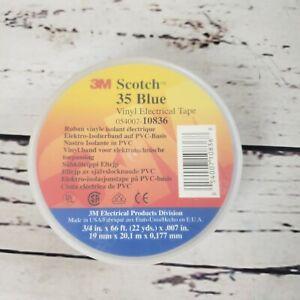 "Scotch 10836 Professional #35 Vinyl Electrical Tape 3/4"" x 66' BLUE Free Ship"