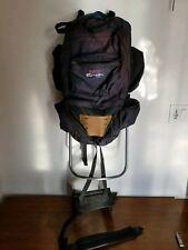 """Vintage Jansport External Metal Frame Large Hiking Blue/Purpl Backpack 40"""" x 15"""""""