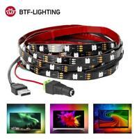 1-3M WS2812B RGB USB LED Strip 5V HDTV Monitor PC Background Light Pixel Ribbon