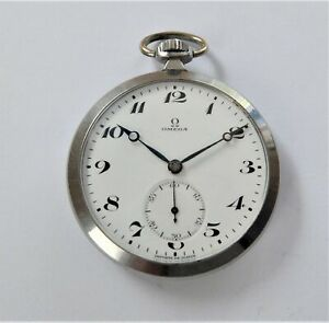 1900 Metal Cased Omega 17 Jewels Swiss Lever Pocket Watch in Working Order
