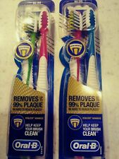 Oral-B Vitalizer Advanced Medium Toothbrush 2 Packs 4 Toothbrushes Lot