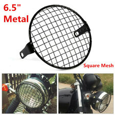 "Black 6.5"" Headlight Mesh Grill Guard Motorcycle Headlamp Light Cover Protecter"