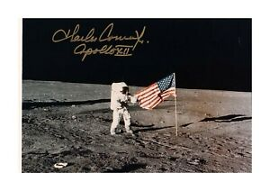 Charles Conrad Apollo 12 moon by Bill Anders A4 signed poster choice of frame