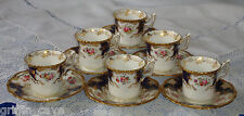 Set Of Six Antique COALPORT BATWING Cabinet Cups And Saucer c1900 Hand Painted