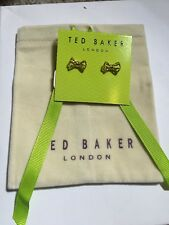 $45 Ted Baker Glenda Tiny Gold Geometric Bow Earrings A231
