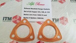 Alfa Romeo Spiders - GTV - Berlina - Alfetta  Exhaust Flange Metal Gasket Set