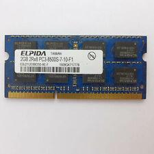 2 GB ELPIDA DDR3 SDRAM EBJ21UE8BDS0-DJ-F Ram Arbeitsspeicher PC3-10600 (DDR3-133