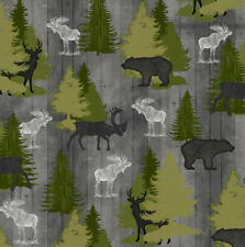 FABRIC QT ~ MOOSE TRAIL LODGE ~ Audrey Jean Roberts (26683 K) by the 1/2 yard