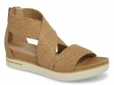 Eileen Fisher Sport 4 Wv Women's Woven Leather Platform Sandals Natural Size 7.5