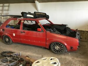 Vw golf mk2 gti front and rear big bumpers restored