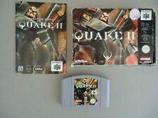 NINTENDO 64 N64 QUAKE II 2  Boxed & Complete PAL UK Version