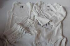 "NWT Newborn Carter's 3 pc set girls ""Loved"" ivory 2-bodysuits & pants"