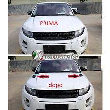 2 Cover Prese D'aria Cofano Anteriore Range Rover Evoque in abs Nero lucido