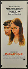 PAUL AND MICHELLE 1974 ORIGINAL MOVIE POSTER 14X36 ANICEE ALVINA SEAN BURY