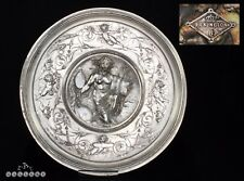 Elkington & Co Silver Plate Neo Classical Roman Figural Charger Electrotype