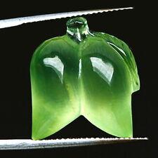TOP PREHNITE : 21,49 Ct Natürlicher Grüner Prehnit Fantasie Mango aus Brasilien