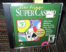 LAS VEGAS SUPER CASINO PLUS PC CD-ROM GAME, CRAPS,SLOTS, BLACKJACK + MAH JONGG
