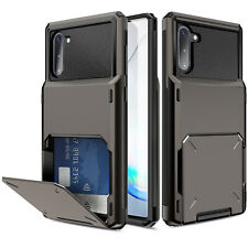 For Samsung Galaxy Note 10 Plus 5G Phone Case Cover With Card Wallet Holder Slot