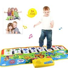 Keyboard Touch Play Musical Music Instrument Gym Carpet Mat Singing Kids Gift