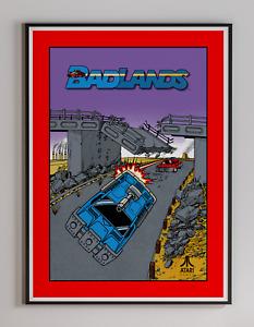 Badlands (1989) Atari Retro Arcade Video Game Poster 18 x 24 inches