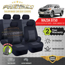 PREMIUM Seat Covers for Mazda BT-50 BT50 Dual Cab 10/2011 - 08/2015 B22P B32P/Q