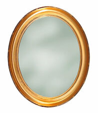 Antique Oval Gold Leaf Frame with Mirror