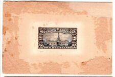 1925 Bolivia Proof on Light Brown Card - Dos Bolivianos Centenario - Very Scare