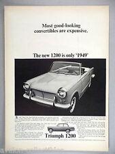 Triumph 1200 Convertible PRINT AD - 1964