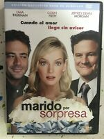 MARIDO POR SORPRESA DVD UMA THURMAN COLIN FIRTH JEFFREY DEAN MORGAN ESPÑOL INGLE