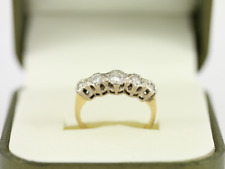 Diamond Five Stone Ring 18ct Gold Ladies Size J 3/4 750 2.6g D58
