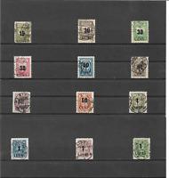 Memel, Litauen 1923, Auswahl aus Michelnummern: 193 - 205 o, alle geprüft BPP