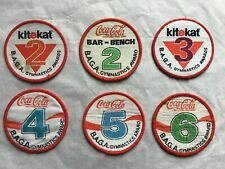 More details for coca cola and kitekat b.a.g.a. gymnastic award cloth patches - 1990's